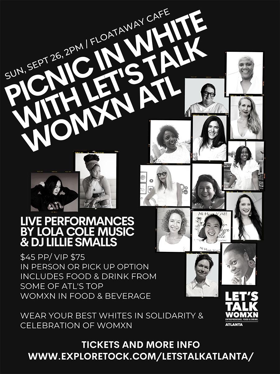 Let's Talk Womxn - Atlanta - Picnic in White - Sept 26, 2021